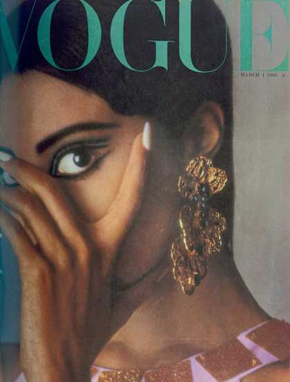 Donyale Luna Covers Vogue March 1966