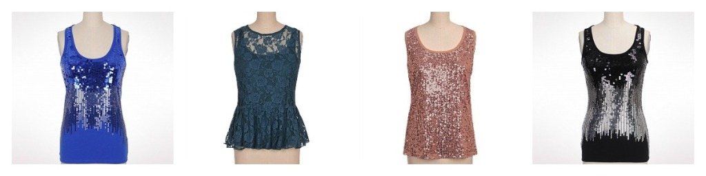 Ombre Sequined Tan, Rose Lace Peplum Tank, Sequin Front Tank, Ombre Sequined Tan